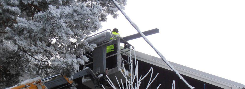Lumivaurioiden korjaukset